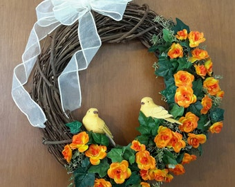 Wreath for Spring, Summer and Fall Door