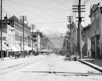 "1901 Third Street, San Bernardino, California Vintage Photograph 8.5"" x 11"""