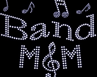 Rhinestone Band Mom Bling Lightweight T-Shirt    or Iron Transfer                                    RI9W
