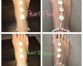 Barefoot Sandals (Pearl flowers)