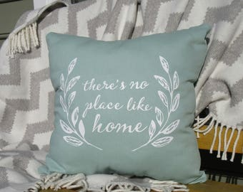 There's No Place Like Home Throw Pillow, Decorative Pillow,  Home Decor, Housewarming Gift, Personalized Family Gift, Quote Pillow Cover