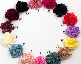 6cm 14colors Vintage Burned Edge Hair Rose Flowers For Children Baby Girls Hair Clips Accessories Artificial Fabric Flowers For Headbands