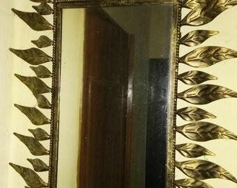 Mirror antique metal sheets