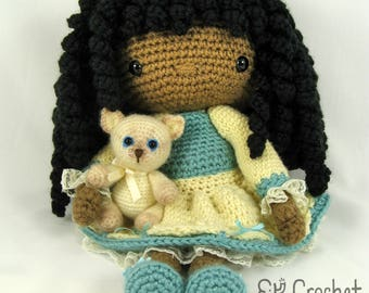 Crochet Amigurumi Doll With Siamese Kitten