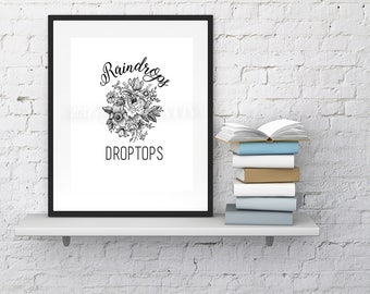 Raindrops- Printed on matte Photographic Paper 8x10in
