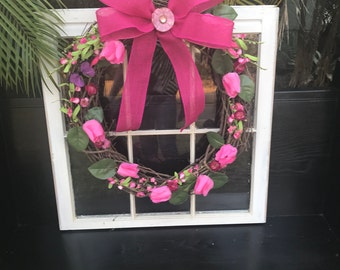 Pink Spring Front Door Wreath