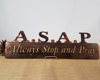 Inspirational, faith inspired wood and metal sign