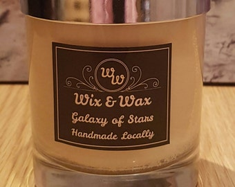 Jar Candle with Lid. 100% Soy Wax. Scented.