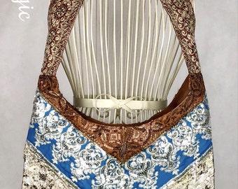 Moroccan Magic handmade sequin patchwork handbag