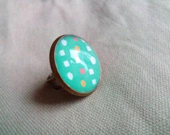 Green #BR12 ring
