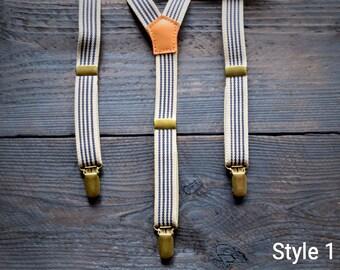 Vintage suspenders, Retro style suspenders, Adjustable suspenders, Suspenders for men,  Pants strap, Casual Suspenders