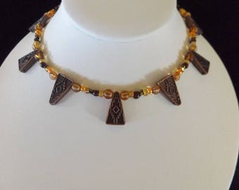 Tribal Necklace in Neutral Tones