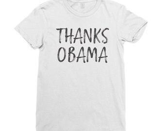 Thanks Obama Shirt   Women's Short Sleeve T-Shirt   Barack Obama Shirt   Barack Obama T Shirt   I Miss Barack   Democrat Shirt