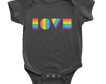 LGBTQ Love Onesie | Organic Baby Clothes | Gay Pride Kids | LGBT Kids | Gay Pride Onesie | LGBTQ Kids | Kids Gay Pride Shirt | Rainbow Shirt