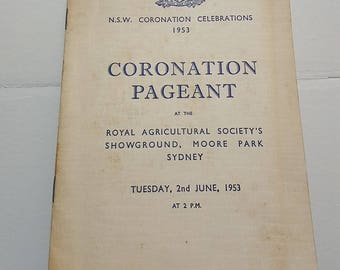 Australian History Coronation celebrations of 1953, A rare history booklet, The crowning of Queen Elizabeth 2 in England