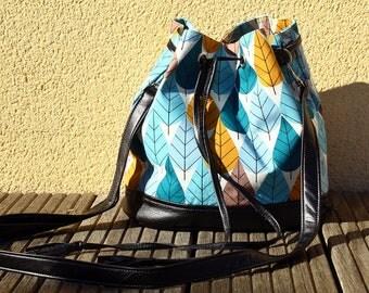 Bag bucket NATURA organic cotton & faux leather