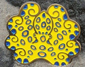 Southern Blue-Ringed Octopus Pin