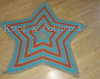 Crocheted Star Baby Blanket