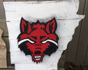 Arkansas state redwolf 3D