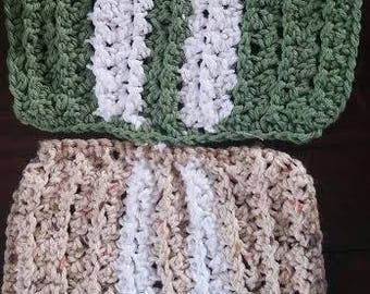 100% cotton hand crocheted Dishcloths