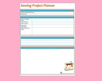 Sewing Project Planner -  Digital Download