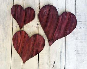 Heart Wall Decor - Reclaimed Wood Heart - Wood Hearts - Heart Wall Art - Rustic Heart -  Baby Shower Gift - Wooden Wall Art - Nursery Decor
