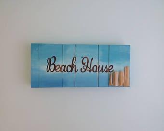 Driftwood Wall Art, Beach House, Sing, Home Decor