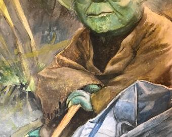 Acrylic painting: Master Yoda