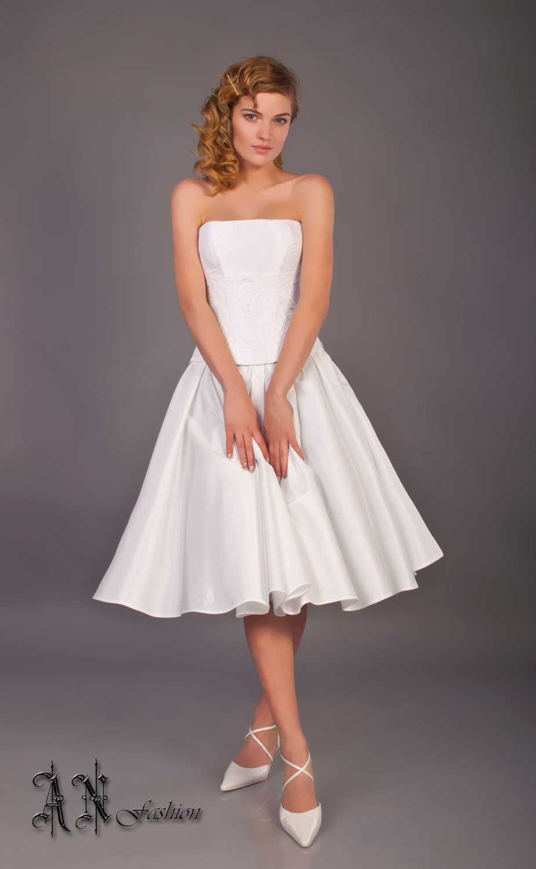 Short Wedding Dress Tea Length Beach Wedding Dress Black
