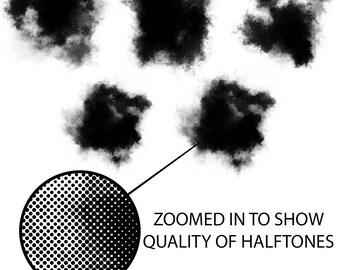 Vector Grunge Halftone Collection Vol. 2 (5 vectors)
