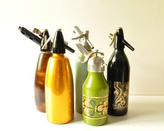 Midcentury Golden - Soda Siphon - Seltzer Bottle