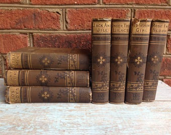 Louisa M Alcott vintage book set