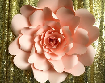 PDF Paper Flower Template DIGITAL Version - The Wild Rose - Original Design by Annie Rose