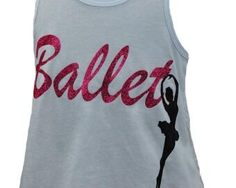Girls White Ballet Lace Tank