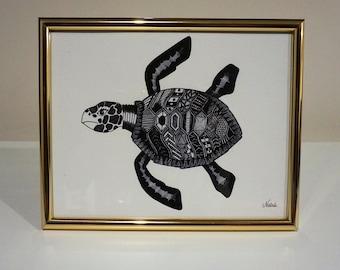 Turtle Print by Natasa