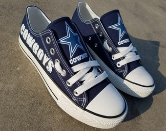 Dallas Cowboys shoes  Cowboys sneakers  Cowboys tennis shoes  Holiday gifts  Custom canvas shoes
