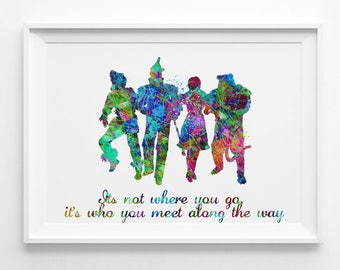 Wizard of OZ quote printable instant download colorful art nursery art for kids posters watercolor digital download (043)
