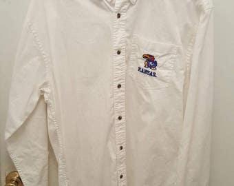 Kansas University Jayhawks 2XL Long Sleeve Shirt