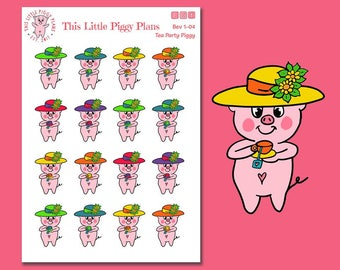 Tea Party Planner Stickers - Tea Time Stickers - Tea Stickers - Planner Stickers - Drink Stickers - Beverage Stickers - [Bev 1-04]