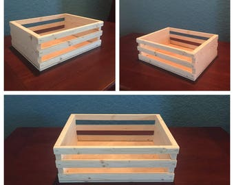 small wooden crate, wooden gift crate, small crate, small storage crate, wood crate, wood gift, wood storage box, decorative box