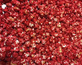 Cherry Candy Coated Gourmet Popcorn Red Popcorn
