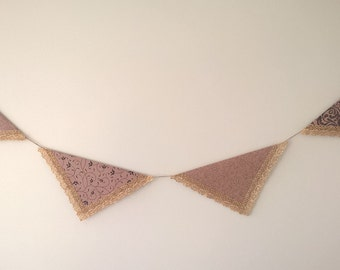 Handmade Rustic-Chic Party Bunting - Pattern 1