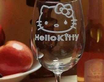 Kitty Wine Glass, Custom Wine Glass