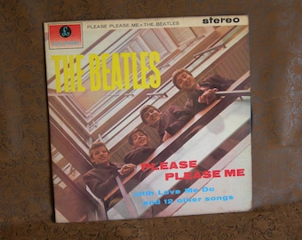 The BEATLES/ Please Please Me/ Parlophone Records/ First British Release 1963/ Vintage STEREO Version