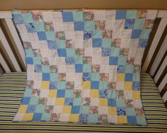 Receiving baby blanket in patchwork