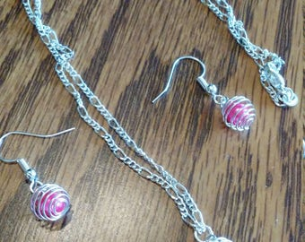 Sterling silver necklace/earrings set