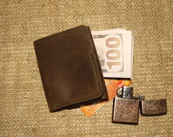 Wallet, leather wallet, Mens wallet, Mens leather wallet, sleek wallet, Leather purse Doshch#331
