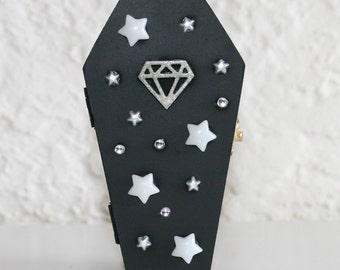 Starry Diamond Coffin Trinket Box