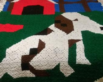 Crochet twin size blanket
