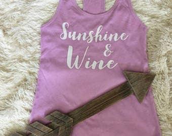 Sunshine & Wine shirt. wine shirt. girls weekend shirt. vacation shirt. bachelorette shirt. wine tasting shirt. Weekend shirt. bridal shirt.